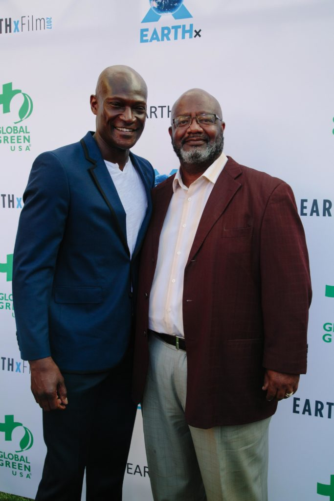 Peter Mensah (Sparticus) and Jerome Ringo (National Wildlife Federation) (Photo by Lindsay Jones)