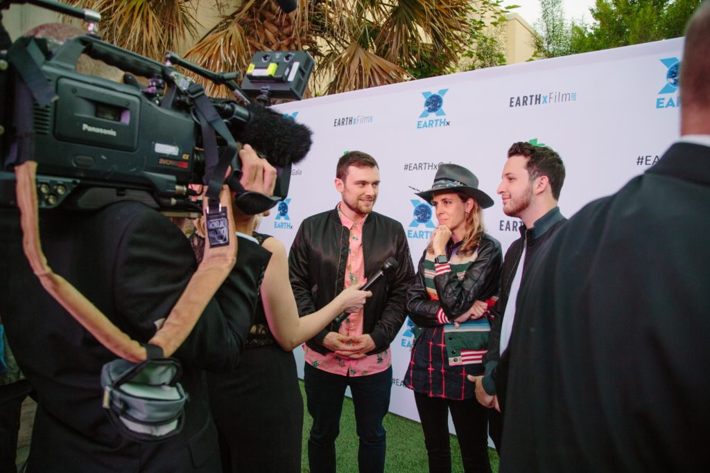 Samantha Ronson and Ocean Park Standoff being interviewed (Photo by Lindsay Jones)