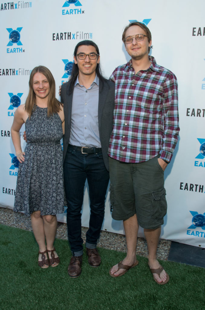 Larissa Rhodes, Jeff Orlowski, and Zackary Rago (CHASING CORAL) (Photo by Steve Duffy/Selig Polyscope Company)