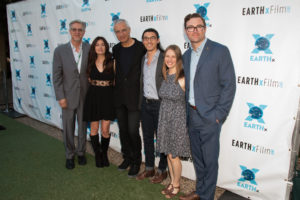 CHASING CORAL meets RACING EXTINCTION on the red carpet thanks to EARTHxFilm and Earth Day Texas: Michael Cain, Leilani Münter, Louie Psihoyos, Jeff Orlowski, Larissa Rhodes, Ryan Brown (Photo by John R. Strange/Selig Polyscope Company)