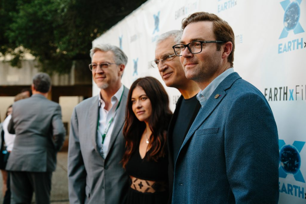 Michael Cain, Leilani Münter, Louie Psihoyos, Ryan Brown (RACING EXTINCTION) (Photo by Lindsay Jones)