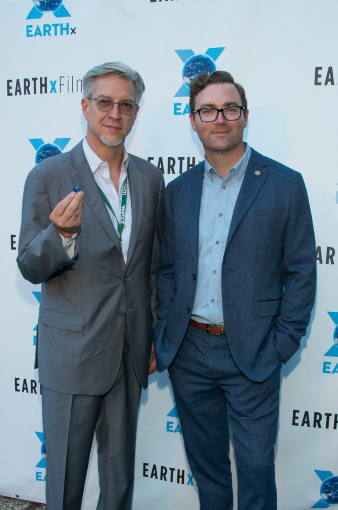 Michael Cain (Founder and President), EARTHxFilm, Ryan Brown (CEO), Earth Day Texas (Photo by Steve Duffy/Selig Polyscope Company)