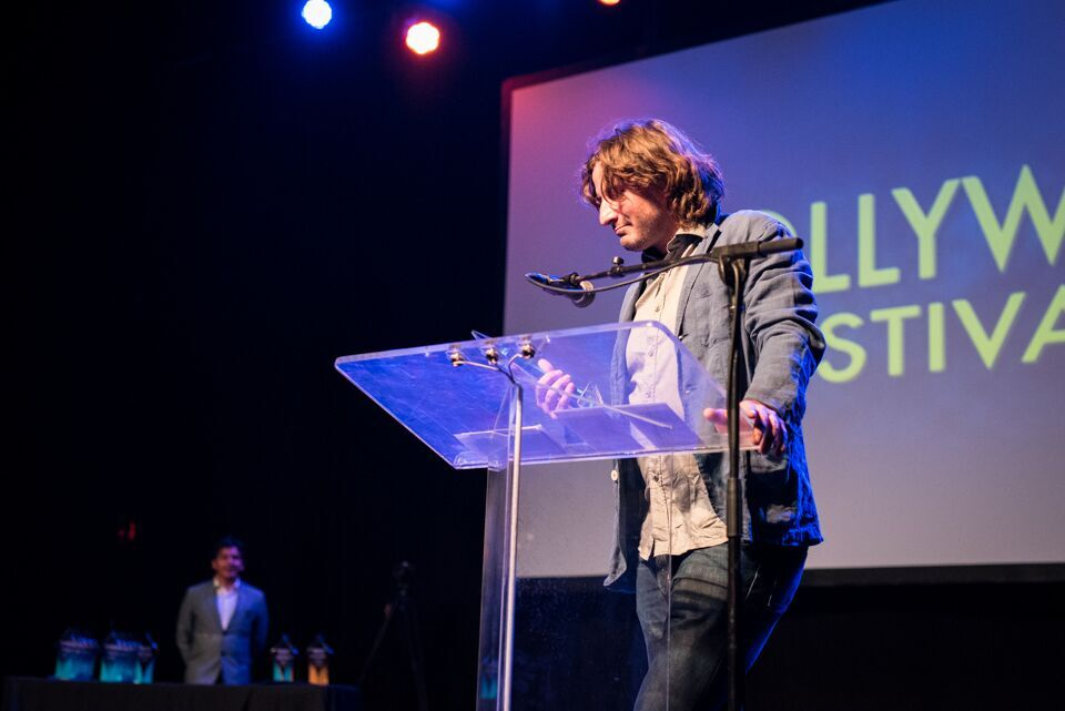 HollyWeb Festival 2017 (Victor Costa accepts the award for Best Documentary/Non-fiction for his film, Il Teatro Fe Bene