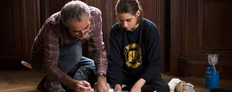 The director with his muse: Assayas with Kristen Stewart