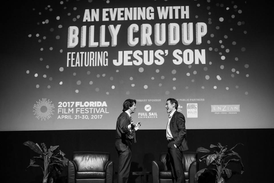 Talking before the talk - Evening with Billy Crudup (Photo by David Lawrence)