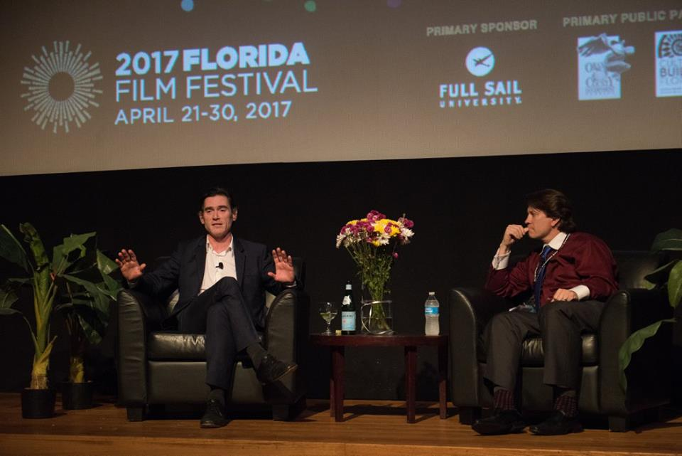 Crudup describing William Macy directing him to just fake it on RUDDERLESS - An Evening with Billy Crudup (Photo by Dave Martinez)