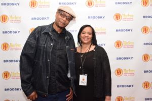 Director Abdul Malik Abbott and producer Phillpa Davis of LET IT ALL GO (Photo by Quack Nation)