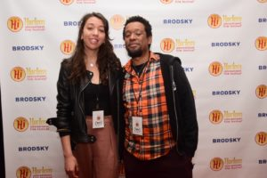 Natalie Eakin (PROD) and Mtume Gant (DIR) of WHITE FACE (Photo by Quack Nation)