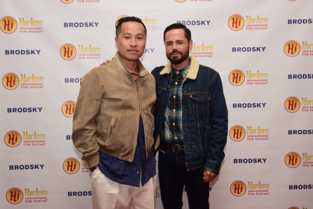 Designer Phillip Lim with GARDEN OF THE PEACEFUL DRAGON's director Daniel Peddle (Photo by Quack Nation)