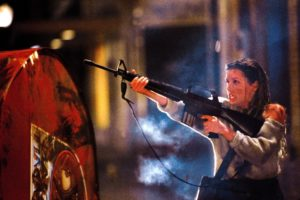Shawnee Smith fighting off THE BLOB