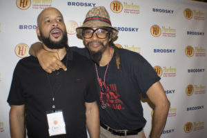 SAVE ME FROM LOVE's Jason Swain with the Harlem Film Festival's Lorenzo Roache (Photo by Quack Nation)