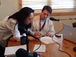 Working with Irene Cho on The Daly Buzz at the Sundance Film Festival