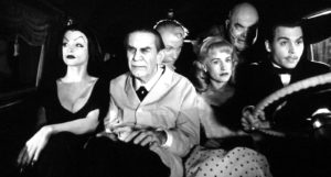 The late, great Martin Landau front and center in ED WOOD.