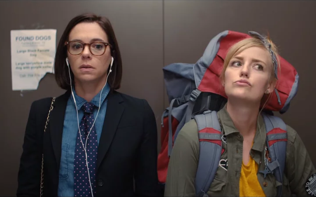 SHORTS AND TO THE POINT: Sarah Adams and Maggie Rieth Austin are a comedy duo to watch and laugh at as they take us for a bumpy ride in THE SERVICE ELEVATOR