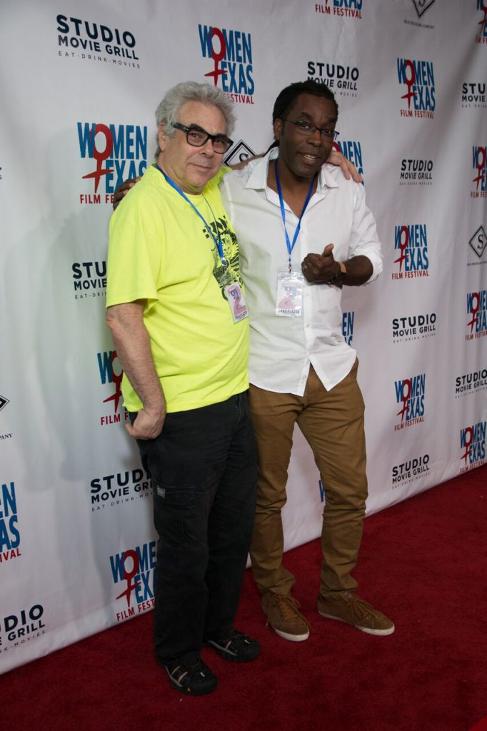 Dallas Video Fest's Bart Weiss and Dallas Film Society's James Faust come out to support the Women Texas Film Festival (Photo by John Strange)