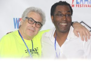 Bart Weiss (Dallas Video fest) and James Faust (Dallas Film Society) (Photo by Sandra Kent)