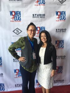 WTxFF Founder/Artistic Director Justina Walford and Texas State Congresswoman (District 107) Victoria Neave (Photo by Wildman)
