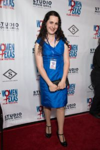Dani Pellett took time off from campaigning for a Congressional seat to be at WTxFF on Opening Night. (Photo by John Strange)