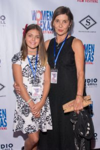 The Bozeman Film Festival's Beth Ann Kennedy, with her granddaughter, Kaila (Photo by Steve Duffy)