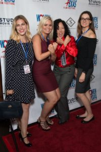Because at an event like this, the Wonder Woman bracelets pose is mandatory (unless you are a Member of the Board): Lisa Normand, Vanessa Cook, Justina Walford, Audrey Palmer (Photo by John Strange)
