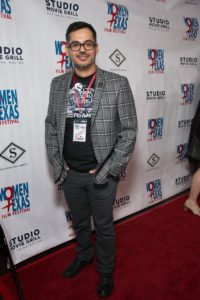 Director Rudy Cervantes made it two years in a row, with his film, THAT'S MY BOY. (Photo by John Strange)