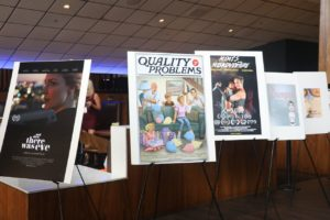 The WTxFF posters lined up to greet and tempt this year's film fans. (Photo by Sandra Kent)