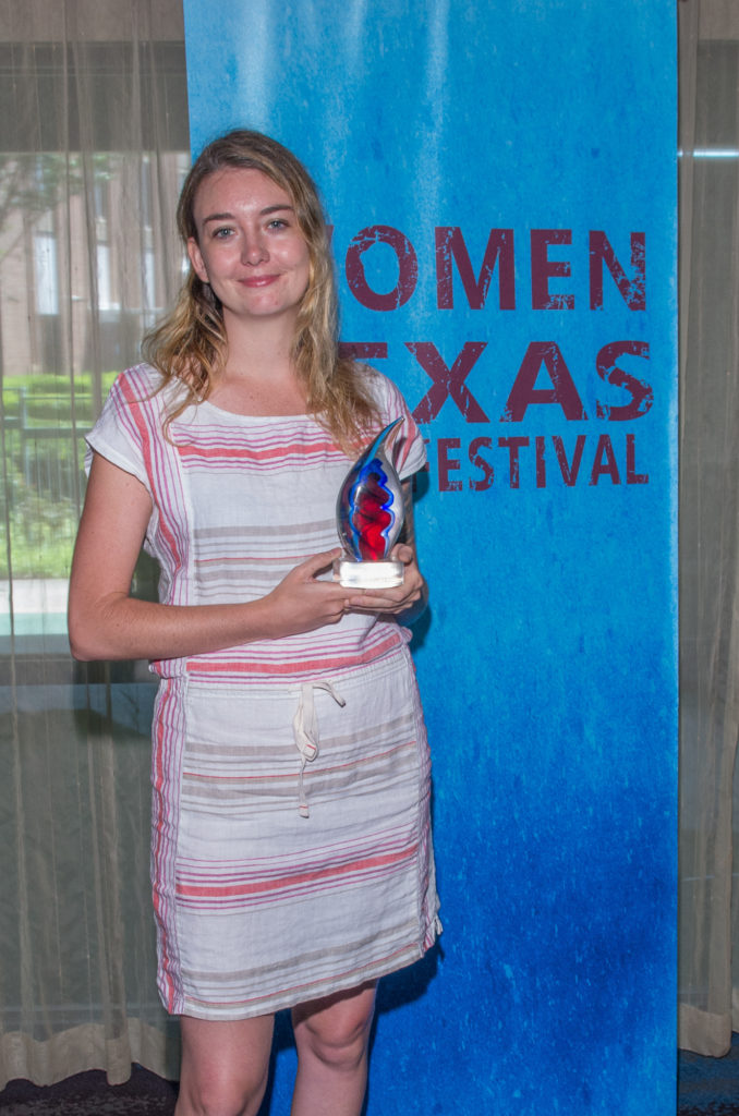 """Siena Pinney (POSSIBILITY) was named WTxFF's 2017 """"Filmmaker to Watch"""" (Photo by Steve Duffy)"""