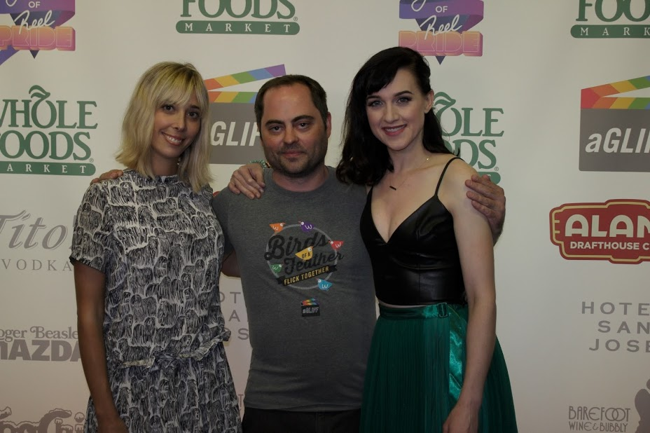 aGLIFF Program Director Jim Brunzell with BECKS twosome Elizabeth Rorhbaugh and Lena Hall (Photo by Anton Savenko)
