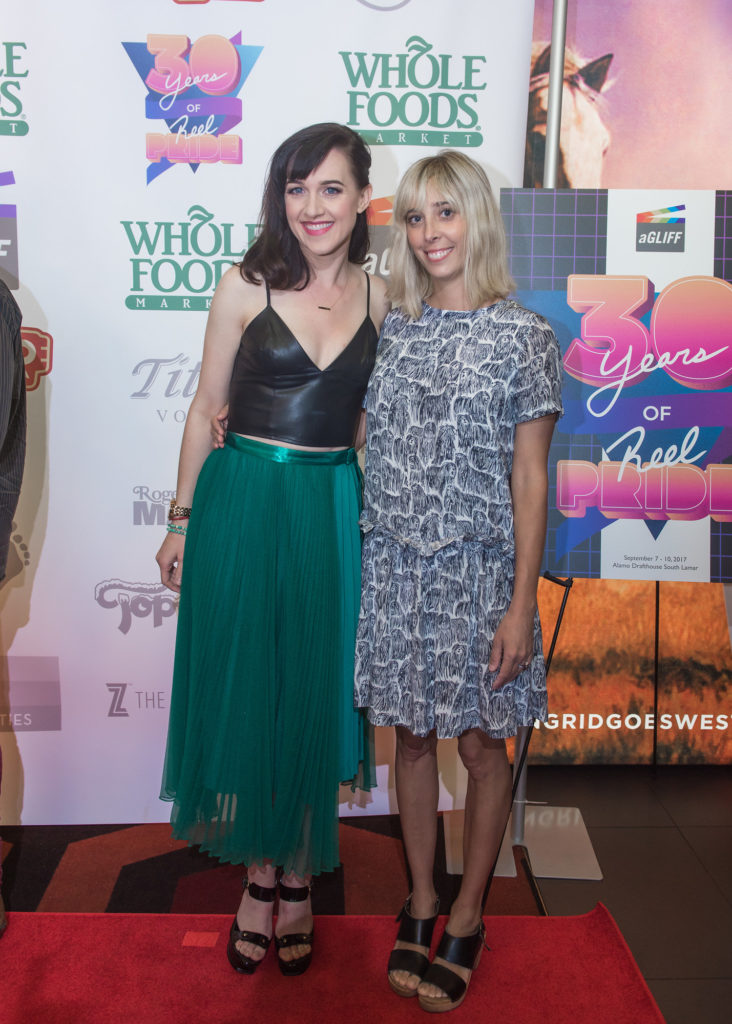 BECKS's star, Lena Hall with Co-Director Elizabeth Rohrbaugh (Photo by Erika Rich)