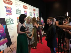 BECKS's Lena Hall being answers a question (Photo by Stephanie Mella)