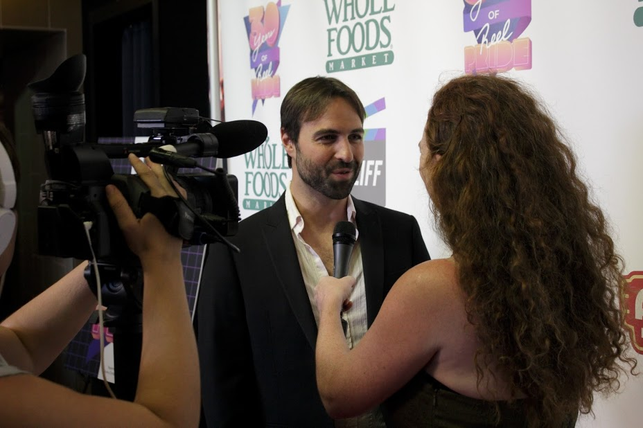BROTHERLY LOVE's Anthony J. Caruso being interviewed (Photo by Anton Savenko)