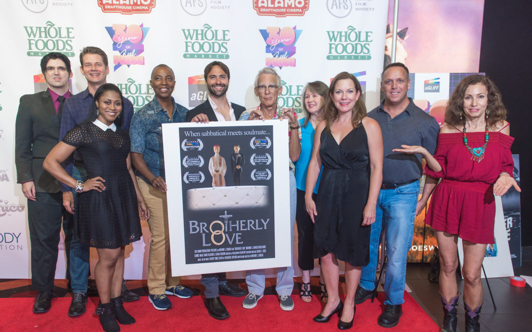 FILM FESTIVAL NEWS: The Austin Gay & Lesbian International Film Festival's Closing Night red carpet featured a lot of BROTHERLY LOVE along with its celebration of BECKS