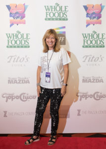 The morning after: CLAMBAKE's director, Andrea Meyerson gets her red carpet shot. (Photo by Erica Rich)