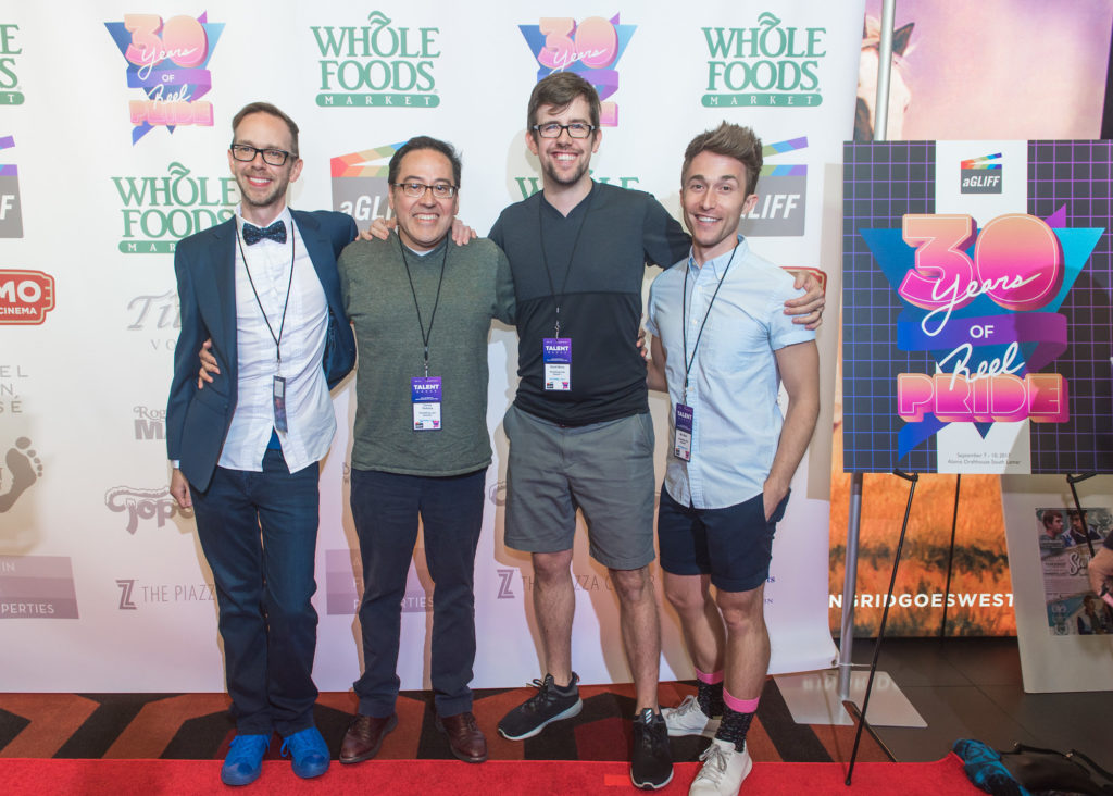 The SOMETHING LIKE SUMMER team: Jay Bell (Author), Carlos Pedraza (SCR/PROD), David Berry (DIR), Ben Baur (CAST) (Photo by Erika Rich)