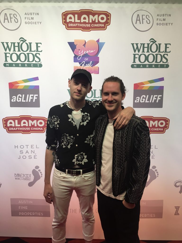 Later that evening, we caught SUSANNE BARTSCH: ON TOP's directing tandem on the carpet: Alexander Smith, and Anthony Caronna (Photo by Wildman)