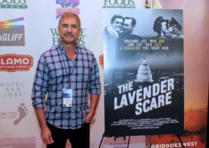 THE LAVENDER SCARE's director, Josh Howard (Photo by Frank Hui) *shot the day before