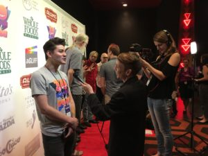 THE NEWS TODAY's Nick Neon being interviewed (Photo by Stephanie Mella)