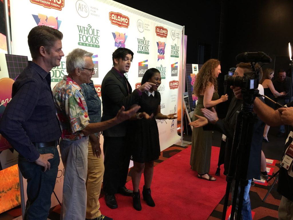 The BROTHERLY LOVE team having fun on the red carpet (Photo by Stephanie Mella)