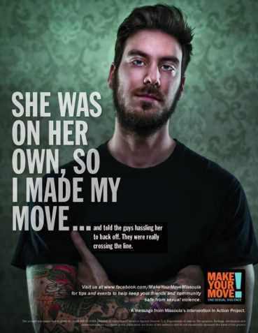 An interesting ad from an anti-rape campaign in Missoula, MT.