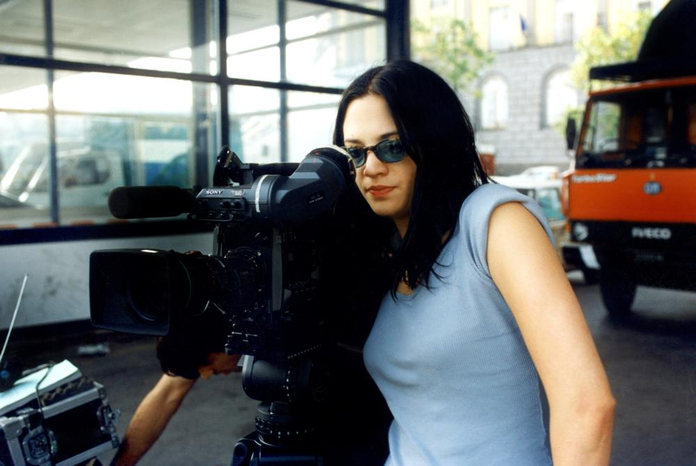 Asia Argento, directing SCARLET DIVA, in which she recreated the time when she was attacked.