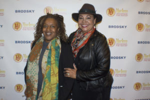 CCH Pounder with  Angela Robinson Witherspoon, director of the Closing Night selection, CURTSY, MISTER at this year's Harlem International Film Festival (Photo by Quack Nation)
