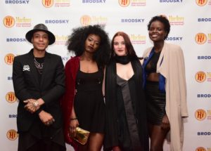 Miguel Ovalle Dizmology, Jade, Dru Blumensheid, Zsamia Loki (INTIMATION FROM THE PHOENIX) hit the red carpet before their screening at the 2017 Harlem International Film Festival (Photo by Quack Nation)