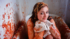 Spaghetti in the bathtub. You'll need to watch the film to understand why. (MR. ROOSEVELT)