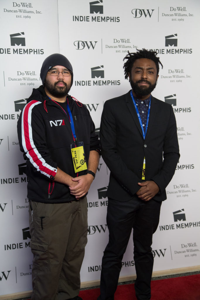 Cast member Jyo Six Carolino with director Vic Matthews of WHERE ARE WE? (Photo by Stephen Hildreth)