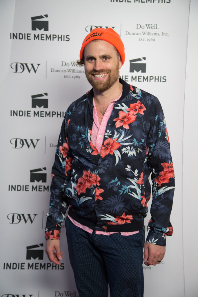 COLD NOVEMBER's Karl Jacobs knows what it takes to get attention on the red carpet. (Photo by Stephen Hildreth)