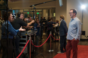The Rainn Wilson Opening Night show continues on the red carpet (Photo by Stephen Hildreth)