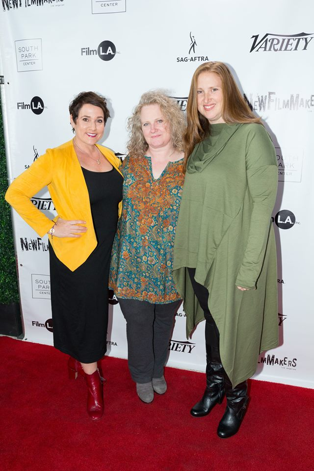 The producing trio behind QUALITY PROBLEMS: Colette Freedman, Jhennifer Webberly, Jen Prince (Photo by Spencer Mathesen)