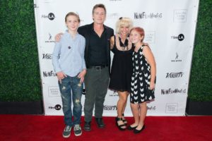 The family that makes movies together... Max, Doug, Brooke, and Scout Purdy (Photo by Spencer Mathesen)