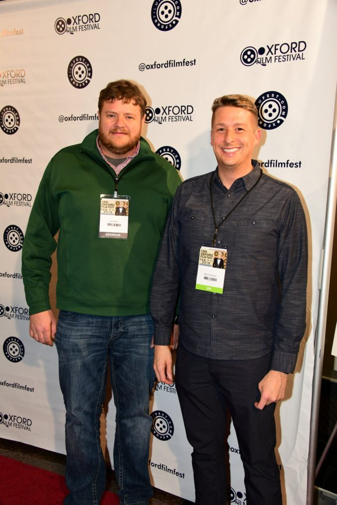 John Molton was somehow convinced by Brian Whisenant to join him on the red carpet for one shot. (Photo by Joey Brent)
