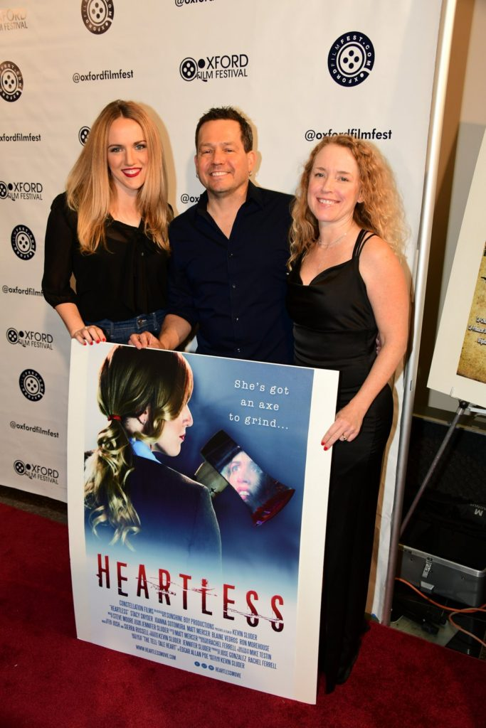 Stacy Snyder, Kevin Sluder, and Jennifer Sluder (HEARTLESS) with the poster shot. (Photo by Joey Brent)